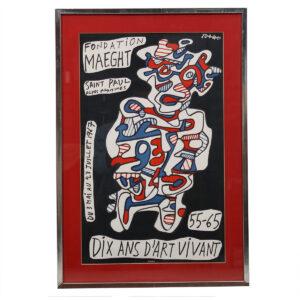 'Dix Ans D'Art Vivant' Maeght Fondation Exhibition Poster