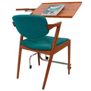 Danish Rosewood & Chrome Adjustable Tray / Music Table