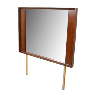 Mid Century Modern Walnut Mirror