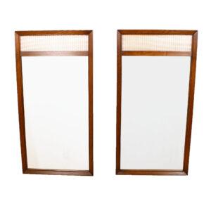 Understated Elegance — Pair Decorator Walnut Mirrors