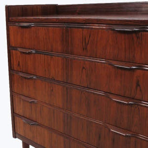 Petite Danish Rosewood 5 Drawer Hallway Chest / Compact Dresser