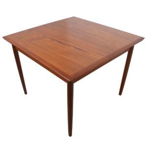 Danish Modern Teak Expanding Square-to-Rectangle Dining Table