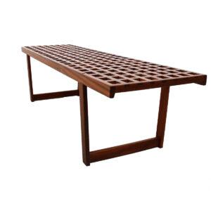 Teak 'Lattice' Coffee Table / Bench by Lovig, Denmark