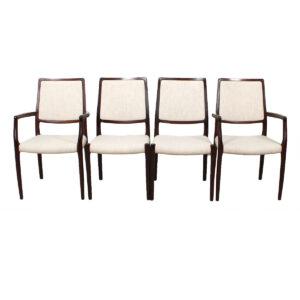 Pair Niels Møller Danish Modern Rosewood Side Dining Chairs