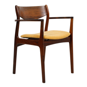 Danish Rosewood Accent Arm Chair w/ New Upholstery