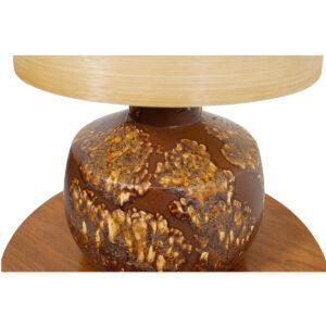 Martz Decorator Lamp w/ 'Beehive' Fiberglass Shade