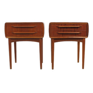 Rare Pair of Danish Diminutive Johannes Andersen Teak Side Tables