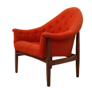 Rare Exposed Frame Lounge Chair by Milo Baughman
