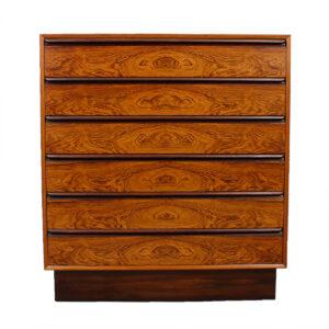 Seldom Seen Danish Modern Rosewood Tall Dresser by Westnofa of Norway