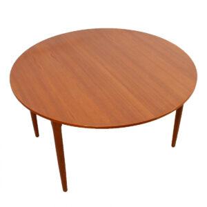Arne Vodder for Falster — Large Danish Teak Round Expanding Dining Table