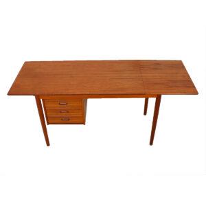 Expanding Arne Vodder Teak Desk w/ Adjustable Drawers