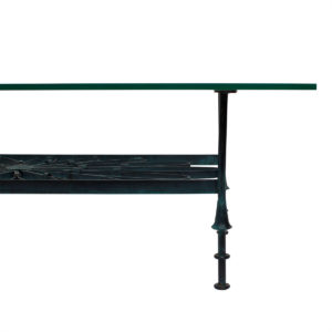 Decorator Wrought Iron & Glass Coffee Table w/ Shelf – Maitland Smith