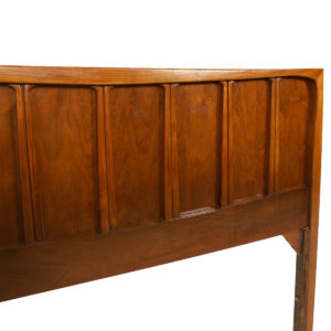 MCM Walnut Curvy Sculptural Headboard & Footboard