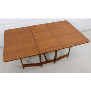 Harvey Probber Apartment Sized Small-2-Large Double Dropleaf Table