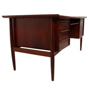 Danish Modern Walnut Mid-Sized Desk by Arne Vodder