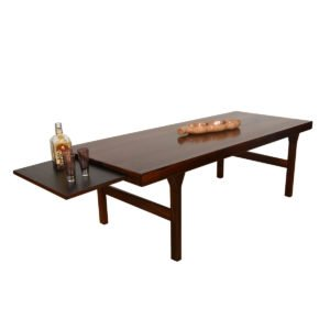 Danish Modern Rosewood Coffee Table w/ Expanding Shelf.