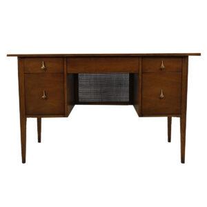 Brasilia Mid Century Modern Walnut Desk