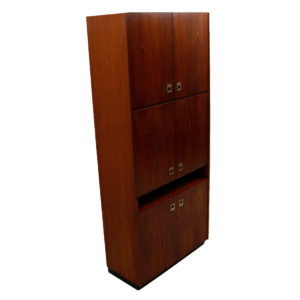 'Skyscraper' 6 Door Teak Storage Cabinet — Ideal For Vinyl!