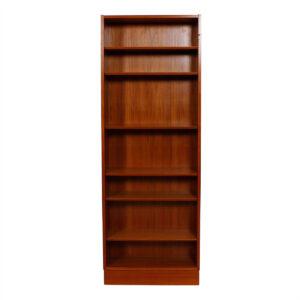 Slim (27.75″) & Tall Hundevad Danish Teak Adjustable Bookcase