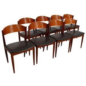 Set of 8 Teak Dining Chairs by Jydsk Møbelindustri, Denmark