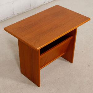 Danish Modern Teak End Table / Magazine Holder