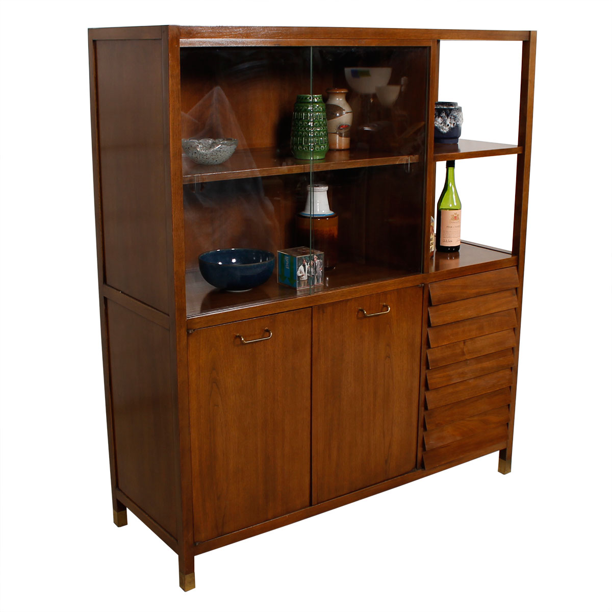 a344b767e6fa Mid Century Walnut Display Cabinet by American of Martinsville