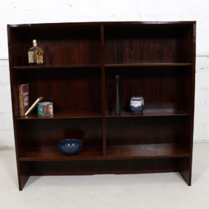 Condo-Sized Danish Rosewood Adjustable Bookcase / Display Cabinet