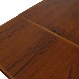 Danish Modern Teak Compact Expanding Dining Table