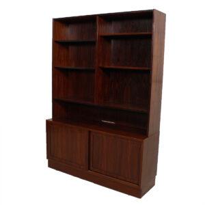 Danish Modern Rosewood Display Cabinet / Bookcase
