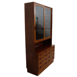 Danish Modern Rosewood Bookcase / Display Cabinet