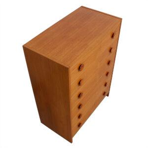 Danish Modern Compact Teak Tall Dresser
