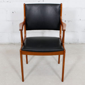 Danish Modern Teak Accent Arm Chair NEW Upholstery