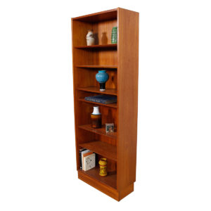 Slim & Tall Danish Teak 27″ Adjustable Bookcase