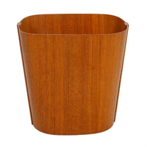 Danish Modern Oblong Teak Waste Basket
