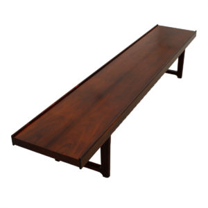 Danish Modern Rosewood Torbjorn Afdal Long Bench / Coffee Table