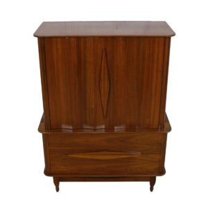 Fluted-Front Tall Walnut Dresser by Cavalier