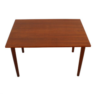 Petite Danish Modern Teak Rectangular Dining Table / Writing Desk