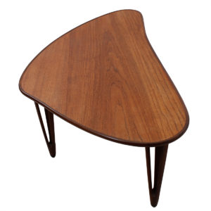 Danish Modern Teak Two-Tone Amoeba Shaped Coffee Table