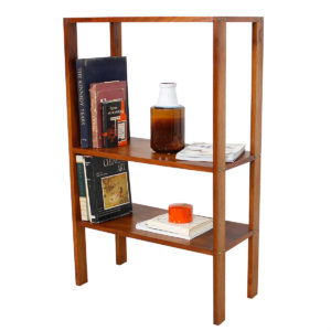 Vintage Modern Walnut Open Bookcase