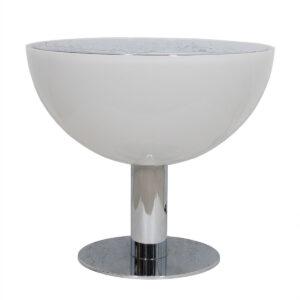 Rare Italian Mid Century Large Chrome Lamp Table