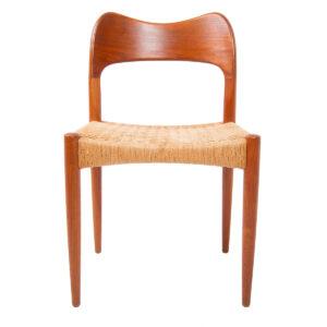 Arne Hovmand Olsen for Mogens Kold Denmark — Set 6 Danish Teak Dining Chairs