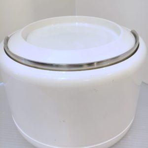 70s Mod White Acrylic Ice Bucket by Stelton, Denmark