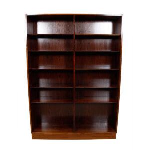Danish Modern Hundevad Rosewood Tall Adjustable Shelf Bookcase