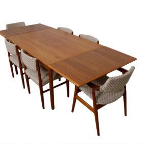 Danish Modern Teak Expanding Dining Table