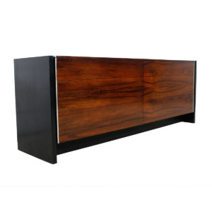 John Stuart Black Lacquer & Rosewood 6 Drawer Dresser / Sideboard