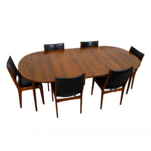 Drexel Oblong 1950's Expanding Walnut Dining Table + 2 Leaves