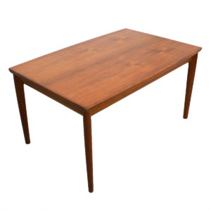 Early Danish Modern Teak Expanding Dining Table