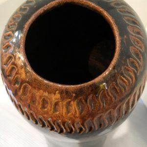 Tall Organic Form Artisan Pottery Vase