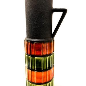Colorful West German Pottery Pitcher, Matte & Glazed Finish