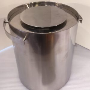 Stelton Denmark Stainless Steel Ice Bucket, Arne Jacobsen
